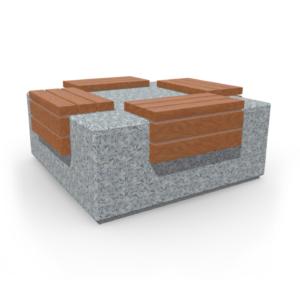 Стол с бетонными ножками GB-01