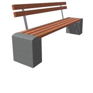 Cкамейки с бетонными ножками