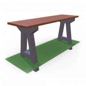 Стол с бетонными ножками GB-02