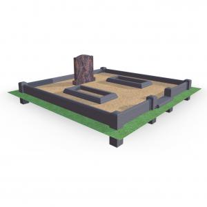 оградка 3×5 метра (морозостойкий бетон) KS-10.5