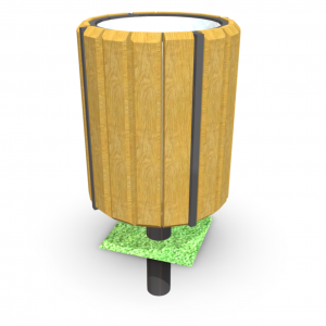 Atkritumu urna UK-4.1 (ar skārda ieliktni)